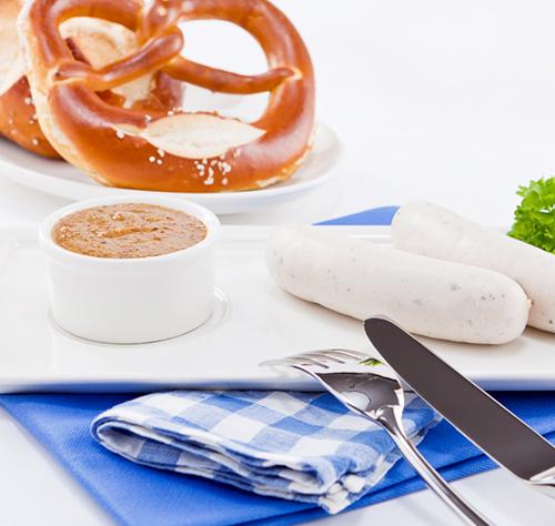 weisswurstvesper bei Bantel in Schorndorf im Café