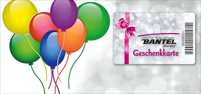 Bantel Geschenkkarte Motiv8 Luftballons